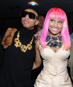 Tyga with fellow label mate Nicki Minaj