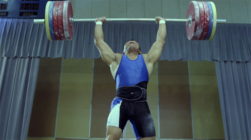 Asian Weightlifter in Nike Commercial