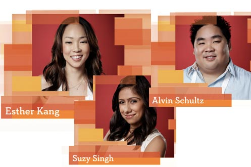 MasterChef contestants Esther Kang, Alvin Shultz & Suzy Singh