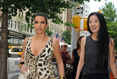 Kim Kardashian out with Vera Wang