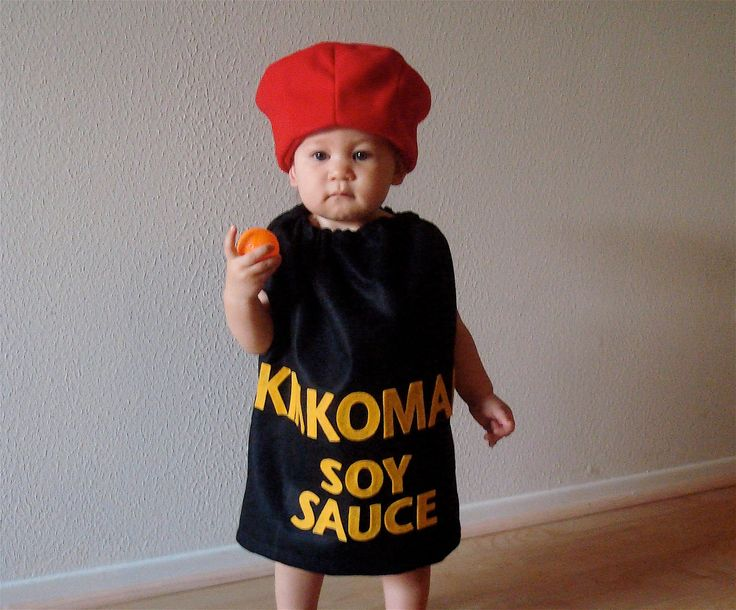 Asian Edibles. sushi soy sauce costume